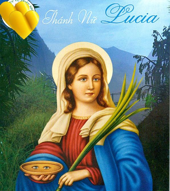 THÁNH LUCIA Trinh nữ Tử đạo (283 -304)