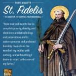 Ngày 24 tháng 4  THÁNH PHI-ĐÊ-LÊ SÍT-MA-RIN-GEN  Linh mục tử đạo