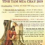 CHƯƠNG TRÌNH TĨNH TÂM MÙA CHAY 2019 TẠI GX. TÂN VIỆT