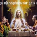 LỜI CHÚA THỨ TƯ TUẦN BÁT NHẬT PHỤC SINH 2019 (24/4/2019) – (Lc 24, 13-35)