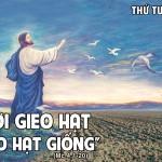 LỜI CHÚA THỨ TƯ TUẦN III THƯỜNG NIÊN NĂM 2021 (27/01/2021) – (Mc 4, 1-20) – DỤ NGÔN NGƯỜI GIEO GIỐNG