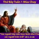 LỜI CHÚA THỨ BẢY TUẦN I MÙA CHAY NĂM LẺ 2021 (27/02/2021) – (Mt 5, 43-48) – MÙA CHAY THÁNH 2021 KIỆN TOÀN LUẬT MÔSE (tiếp theo) – HÃY YÊU THƯƠNG KẺ THÙ