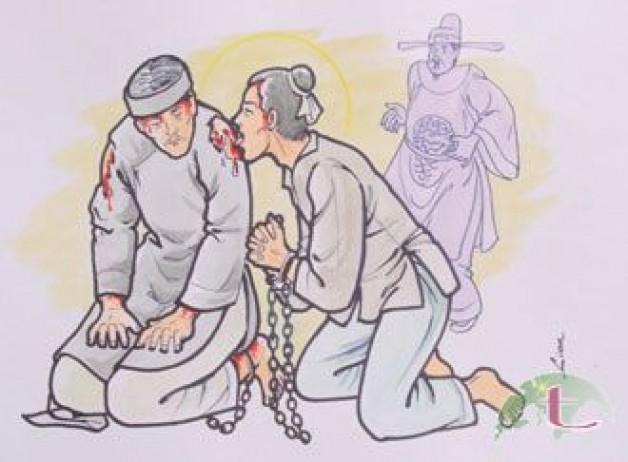 Ngày 08 tháng 11  THÁNH GIU-SE NGHI, PHAO-LÔ NGÂN,  MÁT-TI-NÔ THỊNH, MÁT-TI-NÔ THỌ  VÀ GIOAN BAO-TI-XI-TA CỎN  Linh Mục và Giáo Dân Tử Đạo