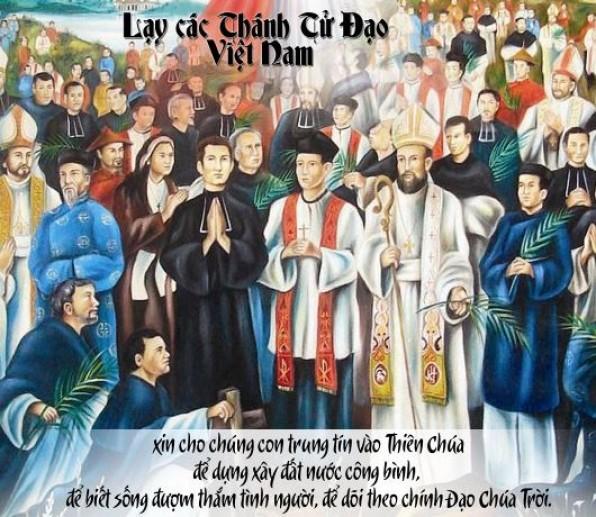 Ngày 24 tháng 11  CÁC THÁNH TỬ ĐẠO VIỆT NAM  Bổn Mạng Hội Thánh Việt Nam