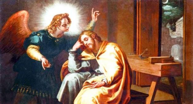 Thánh Giuse đón nhận Lệnh Truyền