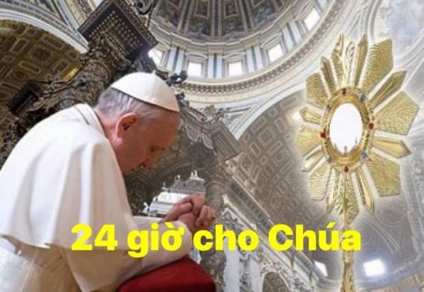 Giờ Chầu Thánh Thể: 24 giờ cho Chúa
