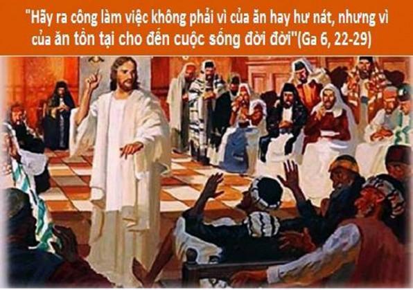 LỜI CHÚA THỨ HAI TUẦN III PHỤC SINH 2018 (26/4/2018) – (Ga 6, 22-29)