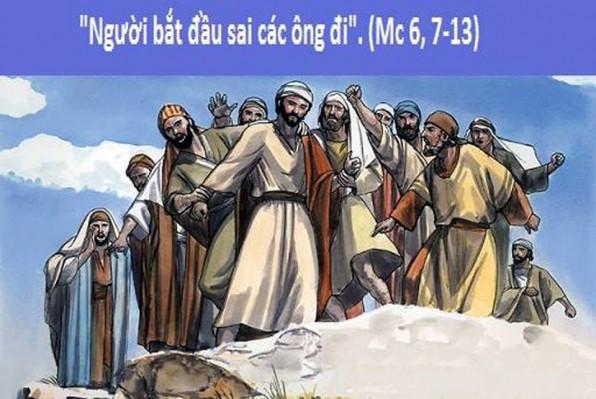LỜI CHÚA CHÚA NHẬT TUẦN XV THƯỜNG NIÊN NĂM B (15/7/2018) – (Mc 6, 7-13)