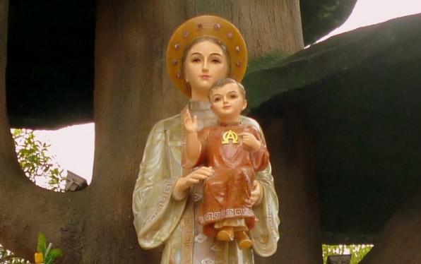 Đôi vợ chồng hiếm muộn nhận được ơn Mẹ La Vang