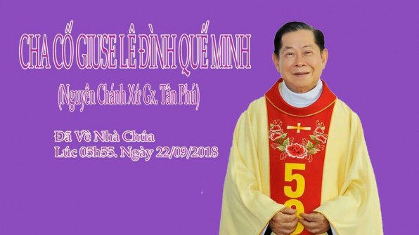 Cáo phó Linh mục Giuse Lê Đình Quế Minh