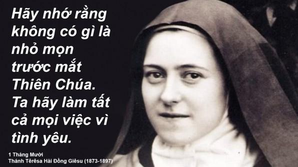 1 Tháng Mười Thánh Têrêsa Hài Ðồng Giêsu (1873-1897)