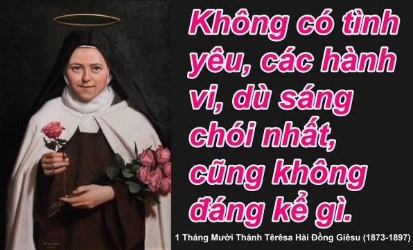 Những câu nói nổi tiếng của thánh nữ Têrêsa Hài đồng Giêsu