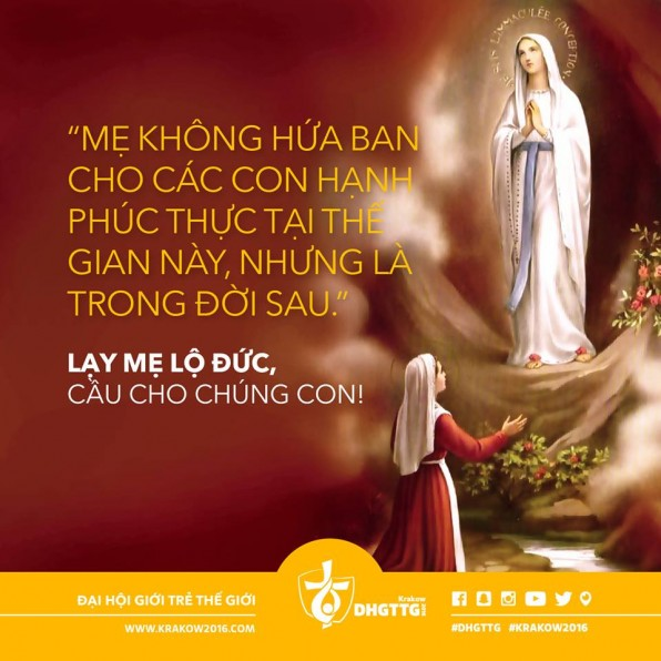Ý NGHĨA NGÀY LỄ KÍNH ĐỨC MẸ LỘ ĐỨC