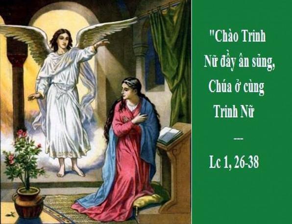 LỜI CHÚA THỨ BẢY TUẦN I MÙA VỌNG NĂM C (08/12/2018) – (Lc 1, 26-38) LỄ ĐỨC MẸ VÔ NHIỄM – Lễ trọng – Lễ Cha xứ cầu cho giáo dân.