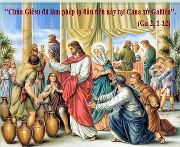 LỜI CHÚA CHÚA NHẬT TUẦN II THƯỜNG NIÊN NĂM C (20/01/2019) – (Ga 2, 1-12) –TUẦN LỄ CẦU NGUYỆN CHO SỰ HIỆP NHẤT.