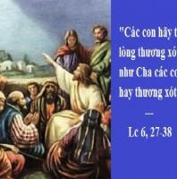 LỜI CHÚA CHÚA NHẬT VII THƯỜNG NIÊN NĂM C (24/02/2019) – (Lc 6, 27-38)