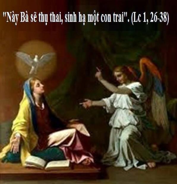 LỜI CHÚA THỨ HAI TUẦN III MÙA CHAY NĂM LẺ LỄ TRUYỀN TIN – Lễ Trọng (25/3/2019) – (Lc 1, 26-38)