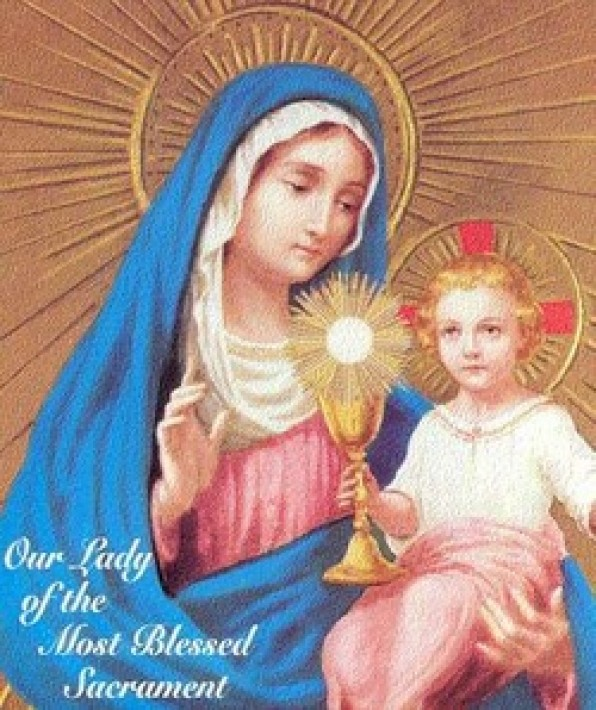 Qua Mẹ đến với Chúa Giê-su Thánh Thể