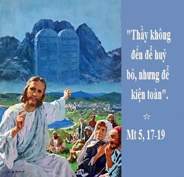 LỜI CHÚA THỨ TƯ TUẦN X THƯỜNG NIÊN NĂM LẺ (12/6/2019) – (Mt 5, 17-19) – THÁNG THÁNH TÂM CHÚA GIÊSU