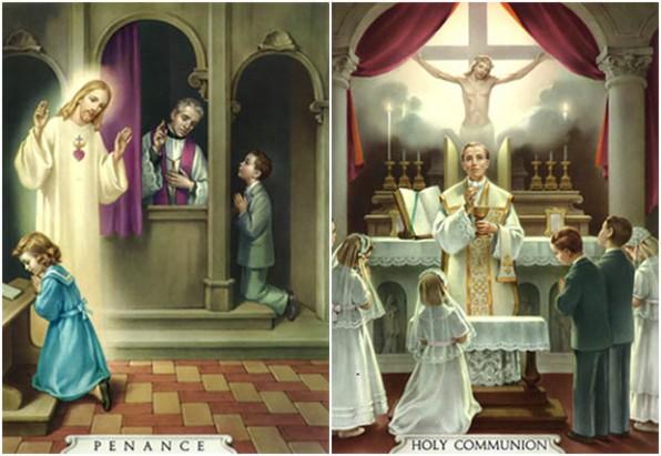 Bảng xét mình xưng tội dành cho học sinh Giáo lý .Kinh dọn mình rước lễ và kinh cảm ơn sau rước lễ