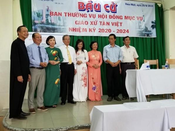 Giáo xứ Tân Việt Bầu Ban thường vụ HĐMV nhiệm kỳ 2020- 2024
