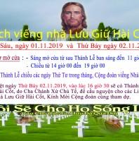 LỊCH VIẾNG NHÀ LƯU GIỮ HÀI CỐT –  THÁNG 11 LỄ CÁC ĐẲNG LINH HỒN