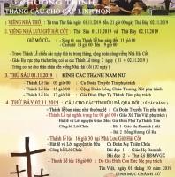 CHƯƠNG TRÌNH THÁNH CẦU NGUYỆN CHO CÁC LINH HỒN – GIÁO XỨ TÂN VIỆT