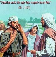 LỜI CHÚA THỨ SÁU TUẦN V THƯỜNG NIÊN NĂM CHẴN (14/02/2020) – (Mc 7, 31 – 37) THÁNH CYRILÔ, Đan sĩ, và MÊTHÔĐIÔ, Giám mục