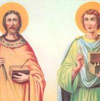 CẶP SONG SINH – ĐÔI CÀNH VẠN TUẾ St. COSMA & St. DAMIANO Tử đạo (…?-297)
