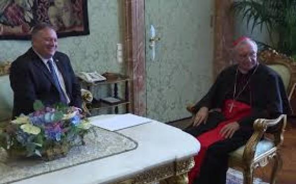 ĐHY Parolin và NT Hoa Kỳ Pompeo trân trọng thảo luận những quan điểm khác nhau về Trung quốc