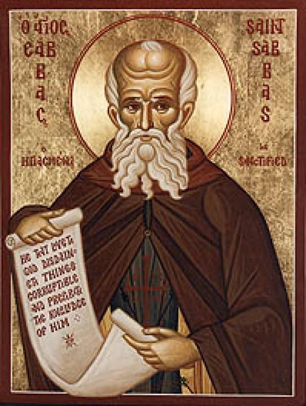 Ngày 5 Tháng Mười Hai Thánh Sabas (s. 439)