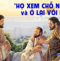 LỜI CHÚA CHÚA NHẬT II THƯỜNG NIÊN NĂM B 2021 (17/01/2021) – (Ga 1, 35-42)