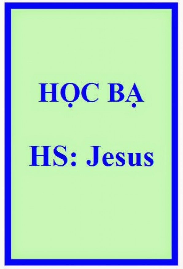 HỌC BẠ JESUS NAZARETH