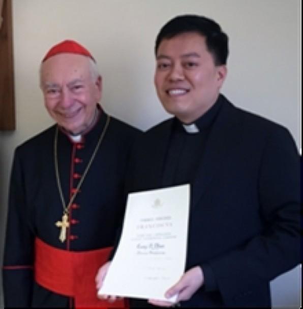 Đức Thánh Cha Phanxicô ban tước Đức Ông cho Linh mục GB. Phạm Mạnh Cương tại Tòa Thánh Vatican