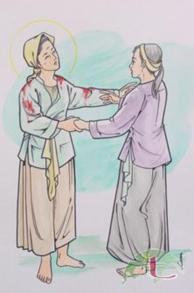 CHI HỘI CÁC BÀ MẸ CÔNG GIÁO, XỨ TÂN VIỆT MỪNG KÍNH THÁNH NỮ ANÊ LÊ THỊ THÀNH BỔN MẠNG CHI HỘI.