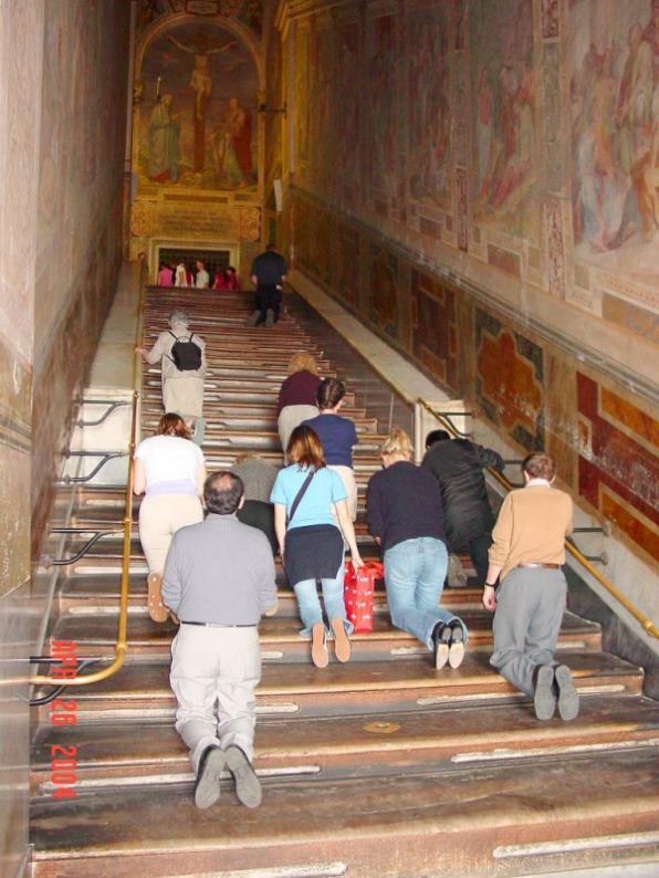 Cầu Thang Thánh mà Chúa Giêsu đã từng bước lên sắp được trùng tu
