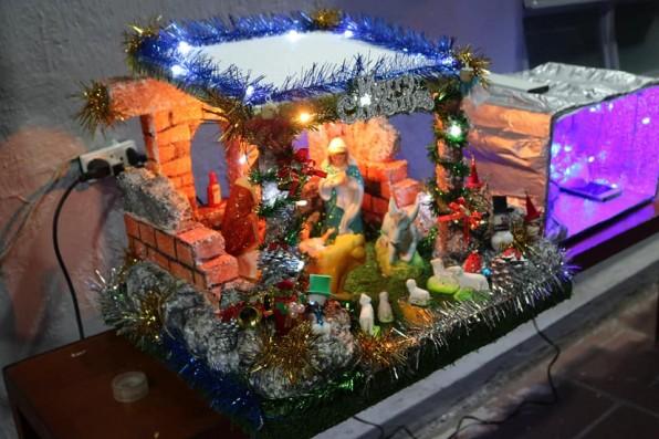 TRÔNG HANG BÊLEM ÁNH SÁNG TOẢ LAN TƯNG BỪNG 🌠 ❄️ [Thi đua làm Hang đá Giáng Sinh] ❄️