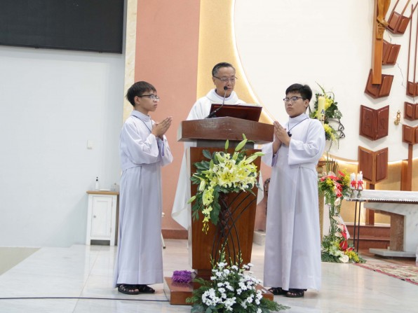 Bài Giảng Lễ Chúa Thăng Thiên do Cha Chánh xứ Đaminh Vũ Ngọc Thủ Giảng Lễ